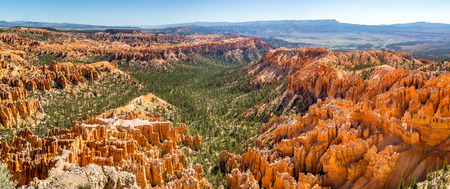 Along the Bryce Canyon National Park in Utah there are multiple lookouts and overlooks to see down into the canyon. Stock Photo