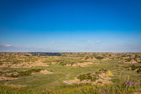 The Scenic Loop Road at Theodore Roosevelt National Park offers countless spectacular summertime viewpoints.