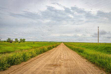 A view down a county road in Jackson County South Dakota.