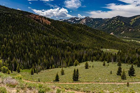 The Sawtooth National Forest covers two million acres in southern Idaho and northern Utah and includes the Sawtooth Mountains and the Sawtooth National Recreation Area.