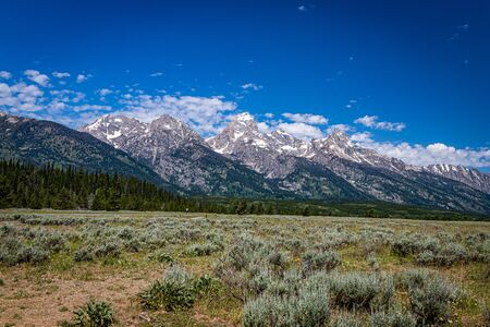 Grand Teton National Park in the Rocky Mountains of Wyoming.
