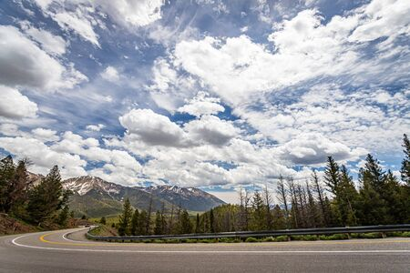 Idaho State Route 75 winds its way northbound through the Sawtooth National Forest.