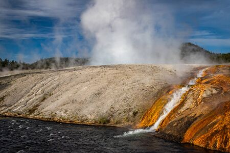 The Firehole River at Yellowstone National Park in Wyoming.