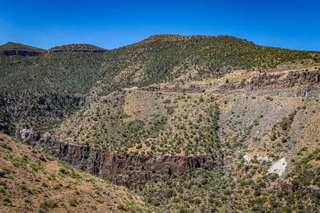 Salt River Canyon Wilderness is a popular hiking and kataking destination between Globe and Show Low, Arizona bisected by U.S. Highway 60.