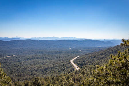 A view from the Mogollon Rim which forms the southern edge of the Colorado Plateau in northern Arizona.