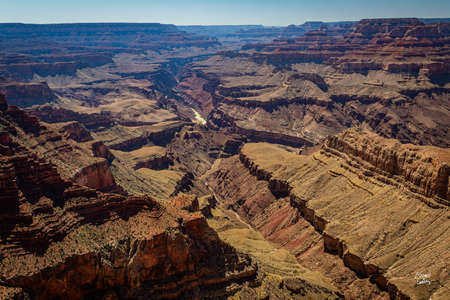 A view from Navajo Point of the Grand Canyon in Arizona on the South Rim.