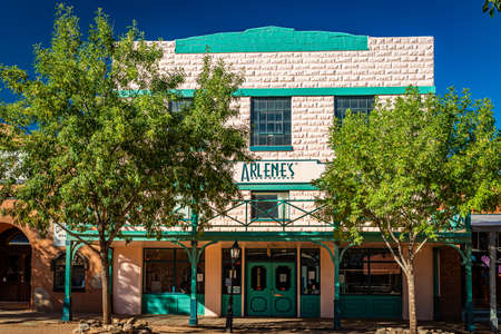 Tombstone, Arizona, USA - March 2, 2019: Morning view of Arlene's on Allen Street in the famous Old West Town Historic District