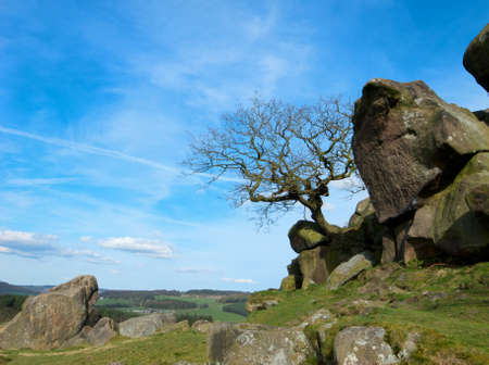 Countryside in the peak district in Derbyshire. U.K. Stock Photo - 9246297