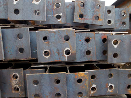 Steel plates with holes Stock Photo - 9389542