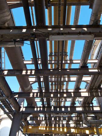 lagging: Industrial pipework running gantry,