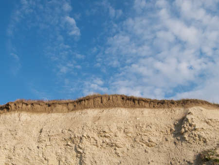 cliff face: Soil layers in cliff face Stock Photo