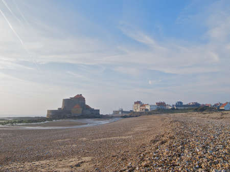 stoney: Small fortress on a stoney beach Stock Photo