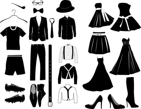Vector clothes set