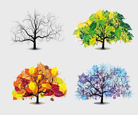 Quatre saisons. Banque d'images - 81345445