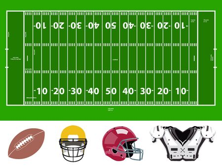 Football field and stuff icons