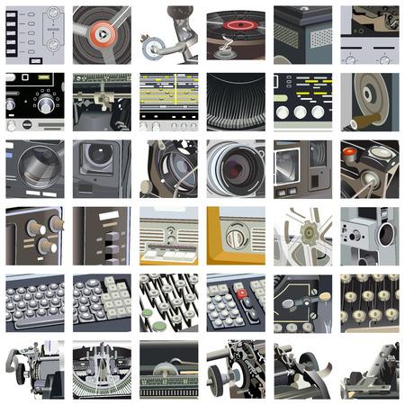 Ensemble de vecteur de pièces de mécanisme et ensemble de détails Banque d'images - 81457507