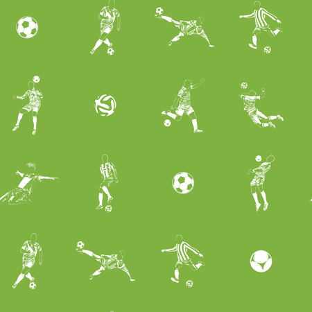 Seanless pattern of the football players set