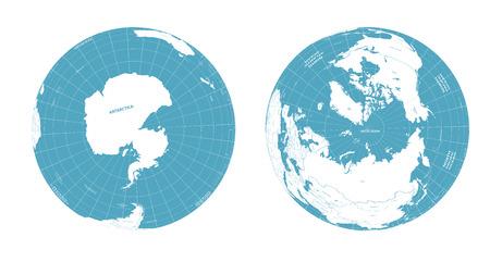Vector aarde globes met politieke kaart illustratie