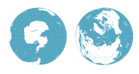 Vector Earth globes with political map illustration