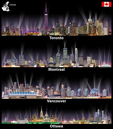 Vector illustration of Canadian city skylines  イラスト・ベクター素材