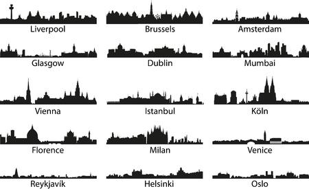 Vector_city iconos Ilustración de vector