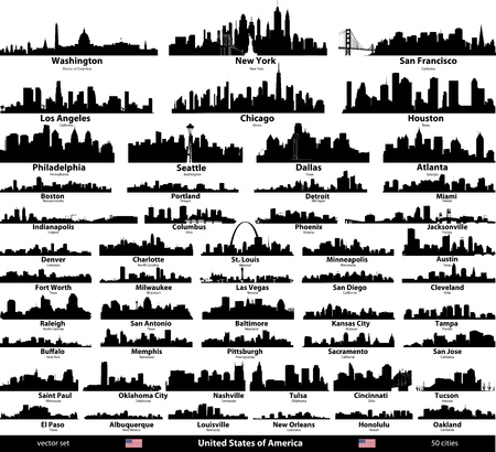USA skylines illustration.