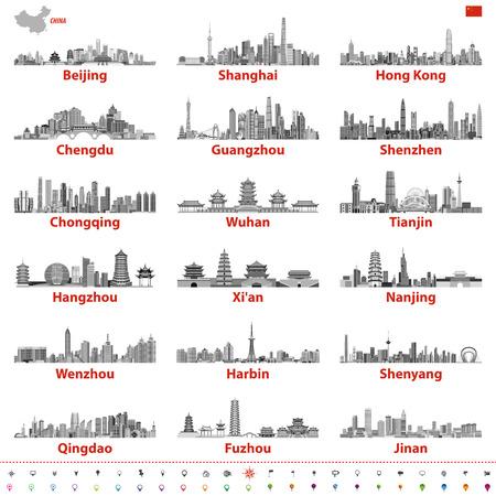 Abstracte illustratie van stadshorizon.