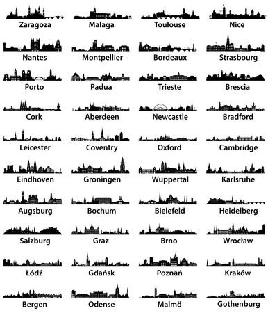 Abstract illustration of city skylines. Imagens - 83916233