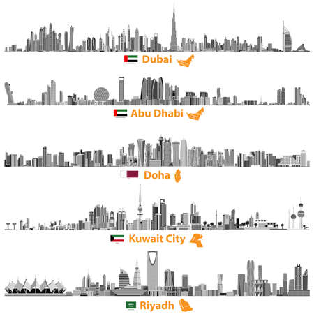 Abstract illustration of skylines.