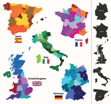 European regions map