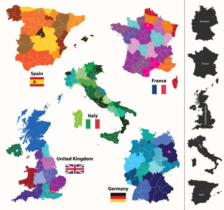 Europese regio kaart