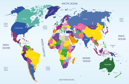 world political map Illustration