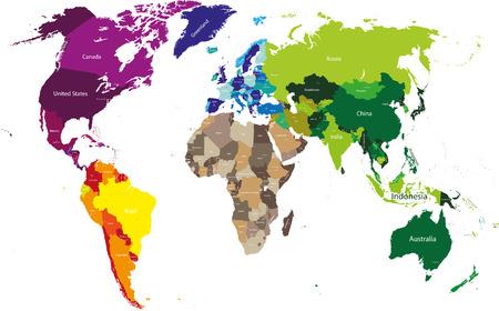 wereldwijde politieke kaart