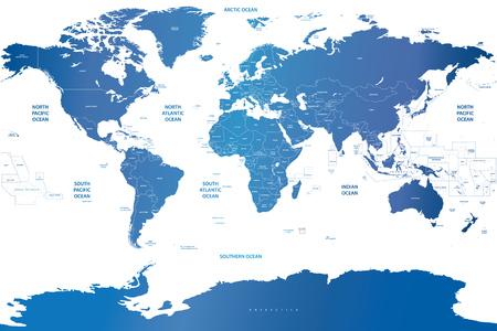 wereldkaart Stock Illustratie