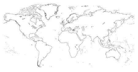 World political map royalty free cliparts vectors and stock world map vector gumiabroncs Images