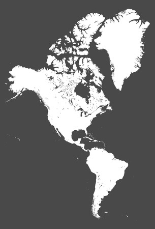 North and South America high detailed map