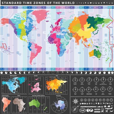 Vector politieke wereldkaart met continenten