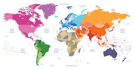 Vector politieke wereldkaart