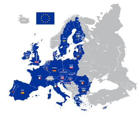 Europe high detailed vector political map Illustration