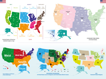 Vector maps of United States