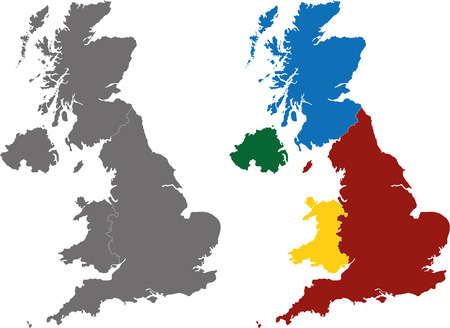 Vector map of United Kingdom