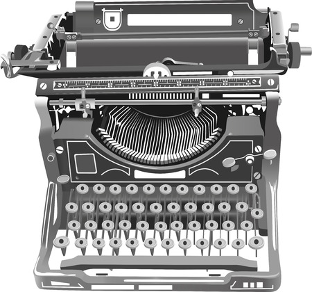 Illustration vectorielle de l'ancienne machine à écrire isolé Banque d'images - 86051318