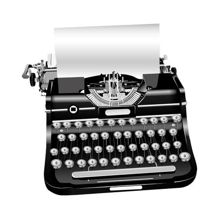 Illustration vectorielle de l'ancienne machine à écrire isolé Banque d'images - 86051321