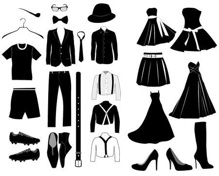 Collection of clothes Illustration