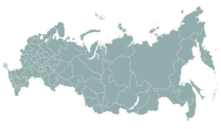 Vector illustration of isolated on white Russia map