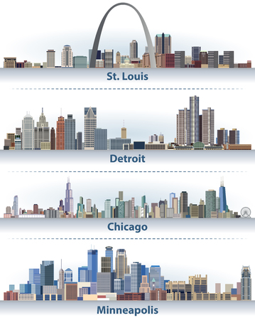 United States city skylines 版權商用圖片 - 88650110