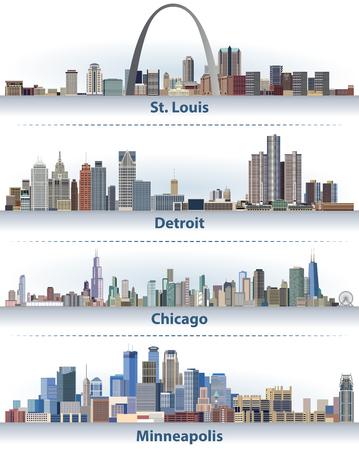 Vereinigte Staaten City Skylines Standard-Bild - 88650110
