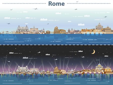 Skyline of Rome at night