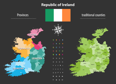 Republic of Ireland Vector illustration.