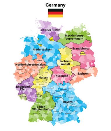 States and regions Vector illustration. Illustration